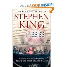 "If you could go back in time and prevent a world-changing event, such as JFK's assassination, would you? Would the consequences be worth it? Stephen King is at his story-telling best in this brilliant novel ""11.22.63""."