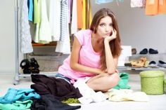 Inexpensive Closet Organization | Stretcher.com - Controlling a messy closet for less!