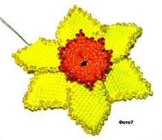 Schema for daffodil. Needs translation. #seed #bead #tutorial