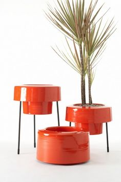 Modern and Colorful Aluminum Planters with Powder Coated Finish by Pad Outdoor Collection