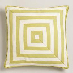 Oasis Green Stripe Throw Pillow, $22.99 from World Market