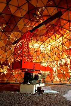 Abandoned NORAD radar dome near Alsask