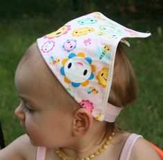 a great use for Babyville fold over elastic, to make a matching head scarf.  #sewing #diy