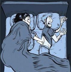 beds, funni, cold feet, joke, married life