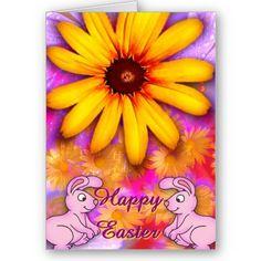 $3.60 #cards  #easter #zazzle #elenaindolfi Happy Easter Card by elenaind