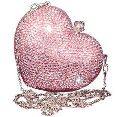 purs, designer handbags, pink heart, burberry handbags, anthoni david, swarovski crystal, clutch, judith leiber, david handbag