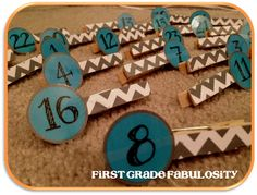 chevron clothespins