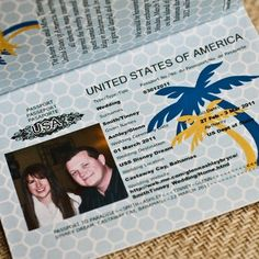passport save the date card - cute idea for a location wedding