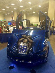 Dallas Cowboys Car Dez Bryant #88 on the hood!