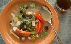 Thai Hot and Sour Chicken Soup inspired by Taunjai, a  silk weaver from Thailand #recipe #microcredit #microfinance