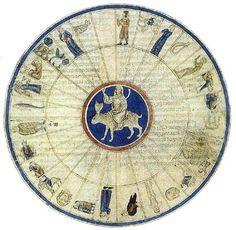 Lunar Mansions from the Libro de Astromagia ~1280