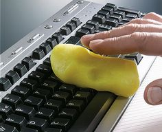 A goo similar to Silly putty can clean all the gunk off of your keyboard. Seems like magic.