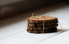 Natural Wood Coasters $3.99 at The Carolina Farmhouse on Etsy!