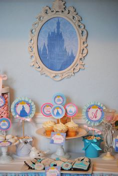 Cinderella  Party Bursts Printable - Cinderella Party - Girl Birthday - Disney Princess - Shower - ladies - Krown Kreations