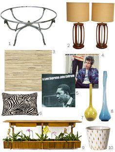 Furniture from Don Draper's new pad. via whorange