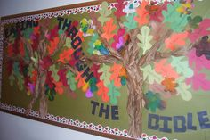Angels Of Heart: Church Art- Pumpkin art and Fall bulletin boards Leafing through the bible