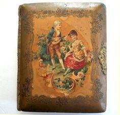 Antique CELLULOID PHOTO ALBUM  Fab 1800's by vintagewarehouse, $44.00