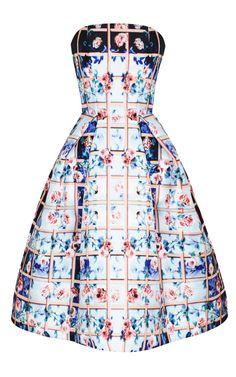 Folli Rose Blue Nevis Dress by Mary Katrantzou resort 2014 for Preorder on Moda Operandi