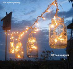 Beautiful mason jar lighting from #Etsy shop treasureagain