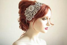 Crystal Wedding Head piece  Blume Made to Order by EnrichbyMillie, $385.00