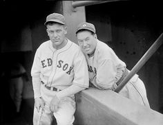 Boston Red Sox outfielder Fabian Gaffke and Chicago White Sox outfielder Mule Haas around 1937