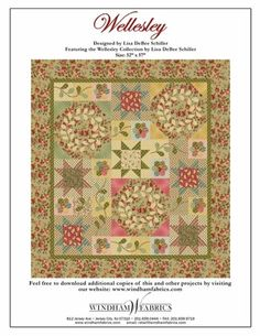 free quilt pattern from Windham fabrics