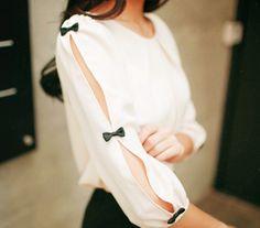 Blusa de manga larga cuchilleada: amo este estilo!!