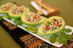 AVOCADO STUFFED WITH QUINOA SALAD