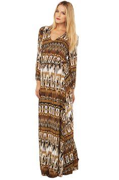 Printed Maxi Dress in Bumble Print