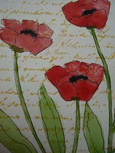 Watercolor card 10-29-11 047 by wildflowerhouse, via Flickr