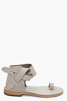 leather belt detail sandals ++ maison martin margiela