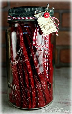 "Fill with Twizzlers... ""Twiz the season..."" too cute!"