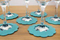 peacock felt wine glass slippers by madewithfelt | notonthehighstreet.com