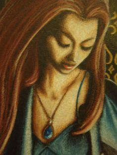 dark, goth, gothic, colored pencil, art by MJ