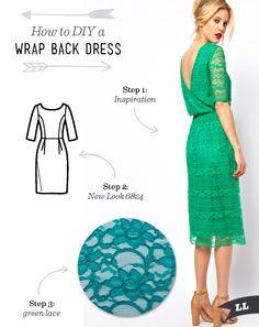 Lula Louise: How to DIY a Wrap Back Dress