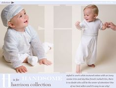The Harrison Collection - Designer Baby Boy Clothing by Baby Beau & Belle.  This site has fantastic christening outfits for boys (so hard to find) and girls...