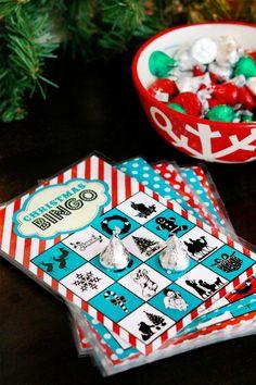 Free printable Christmas Bingo game.