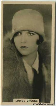 Louise Brooks 1929 Carreras Paramount Stars tobacco card  from the 1926 – 1929   Movie Card & Collectibles Index