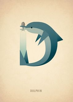 Animal Alphabet by Marcus Reed, via Behance