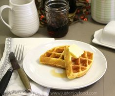 Fluffy coconut flour waffles are grain and nut-free with a dairy-free option. They are flavor full and remind you of eating a Belgian Waffle! Freezes well.  http://stalkerville.net/ #paleo #glutenfree #realfood
