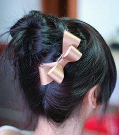 How to Put Your Hair Up In A Cute Bun bun hairstyles, easi bun, messy buns, hair bows, beauti, hair style, bun tutori, hair buns, sock buns