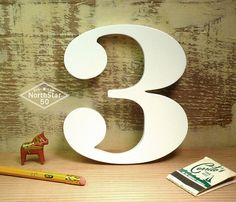 painted wood, wooden letter, daili inspir, ornat number, numbers, finish ornat, paint wood, favourit number, typographi