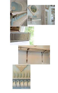 window shutters, plate rack diy, old shutters, diy shutter, kitchen storage