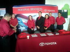 Sergeant Dakota Meyer at the Toyota booth at Hiring Our Heroes San Antonio. hero san