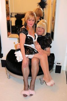 French sissy maids in their black and white uniforms, there is always a head maid.