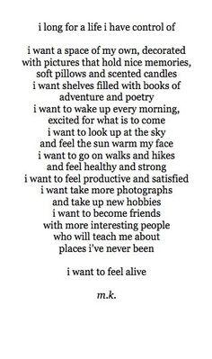 feel alive//