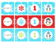 BOY PENGUIN party cupcake toppers   U by PrettyPartyCreations
