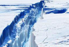 A rift in the Pine Island Glacier, Antarctica.