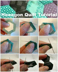 Hexagon Quilt Tutorial / patchwork posse #tutorial #hexagonquilt