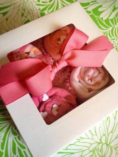 Custom Baby Onesie Cupcakes on Etsy, $23.00